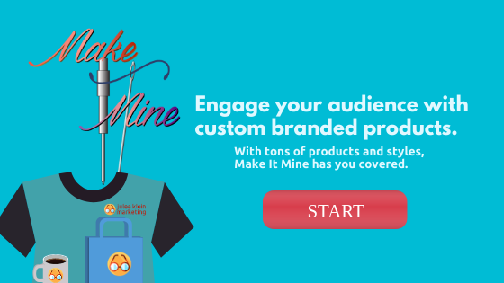 Custom branded product and giveaways resource for small business