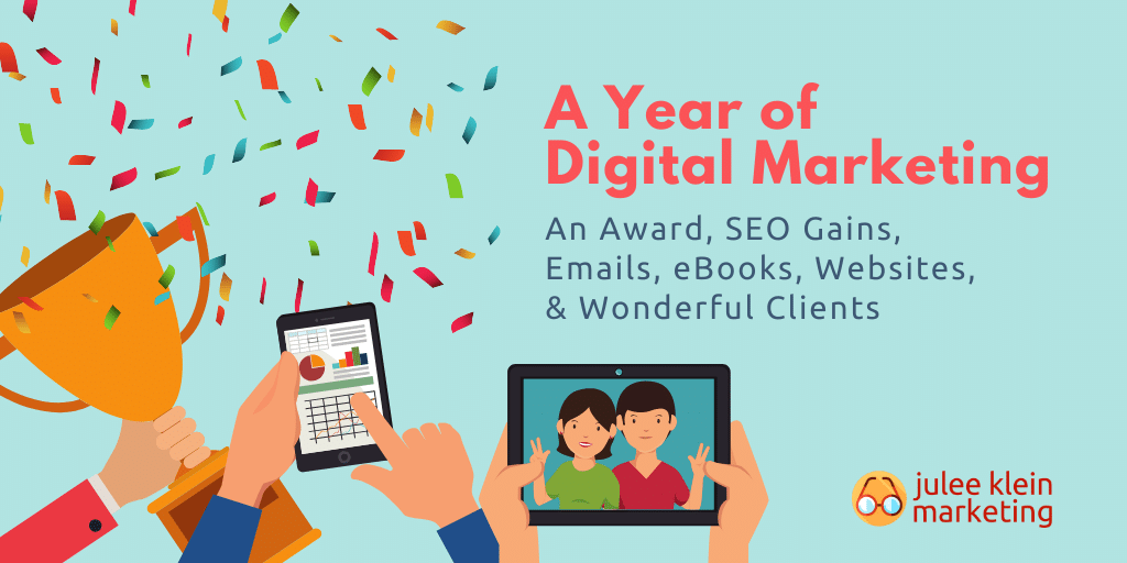 Decorative Graphic Highlighting a A Year of Digital Marketing