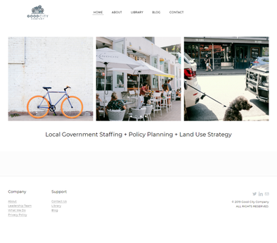 Web Design of Home Page for Good City Co