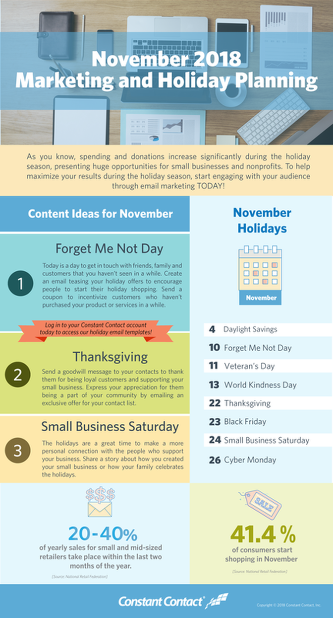November Email Marketing Themes and Ideas